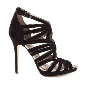 NEW SAM EDELMAN EVE Caged Suede heels